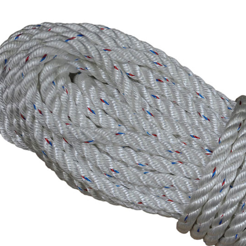 Rope Ratchet Long 1//4 Solid Braid Polypropylene Rope Sold in 50 Foot Hanks Lengths - Black with Red Tracers